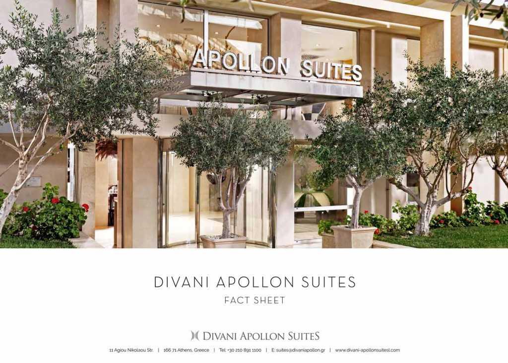 Divani Apollon Suites - Brochures - Fact Sheet Cover